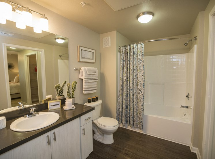 Apartments for Rent in Rancho Cucamonga - Victoria Arbors Apartment Bathroom