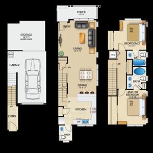 TheWoodlands_Snoqualmie_WA_FloorPlan_Laurel_2Bedroom_2Bathrooms