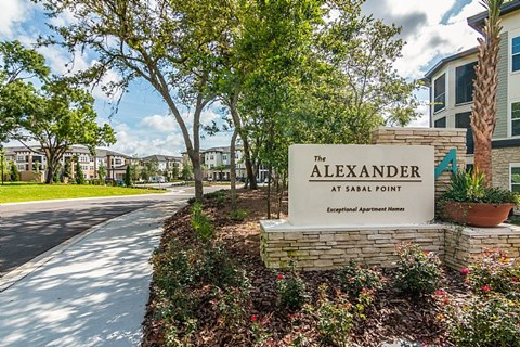 The Alexander at Sabal Point Entrance