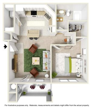 One Bedroom One Bath A