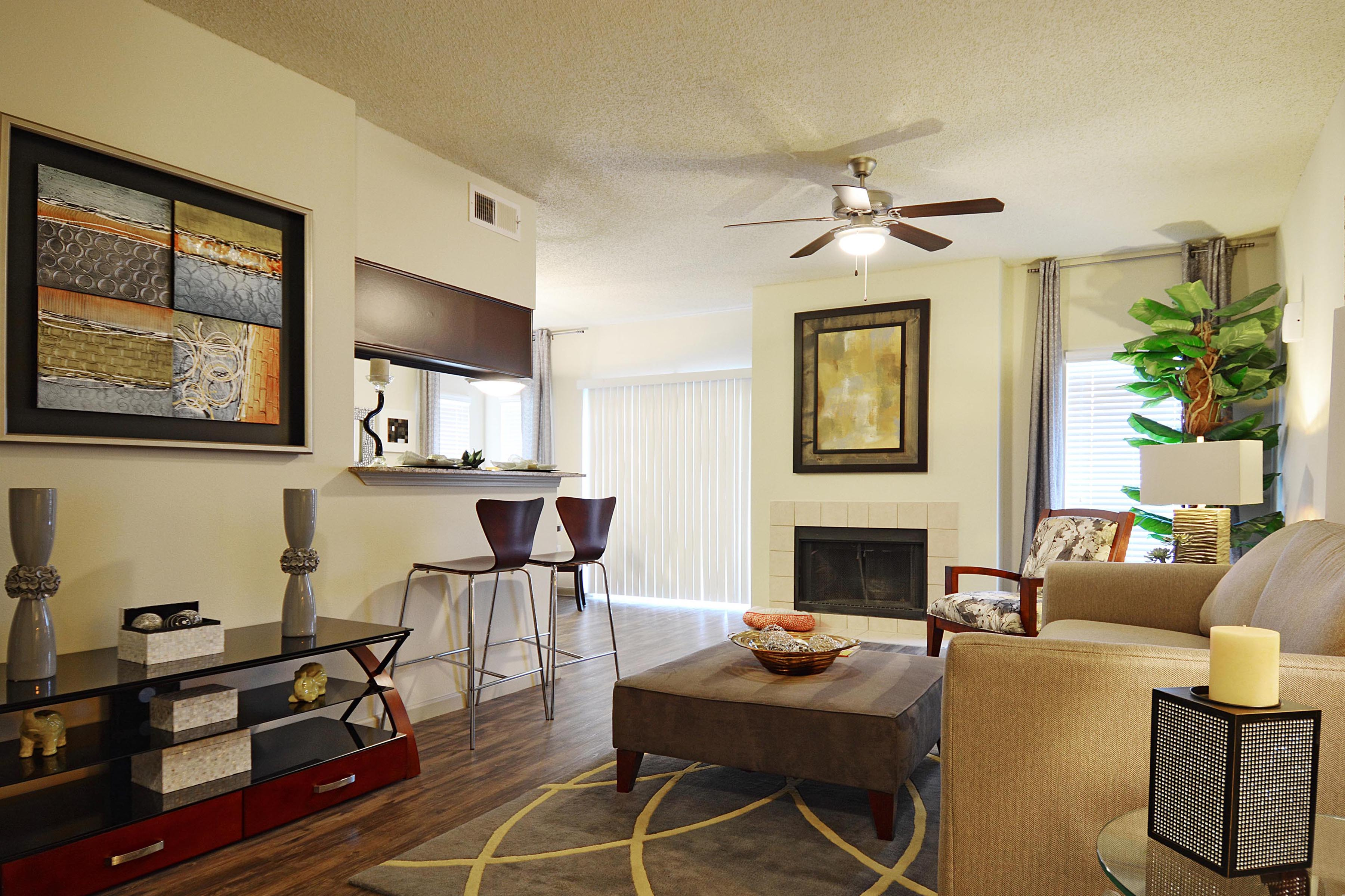 Living Room | The Preserve At Westover Hills San Antonio Apartments