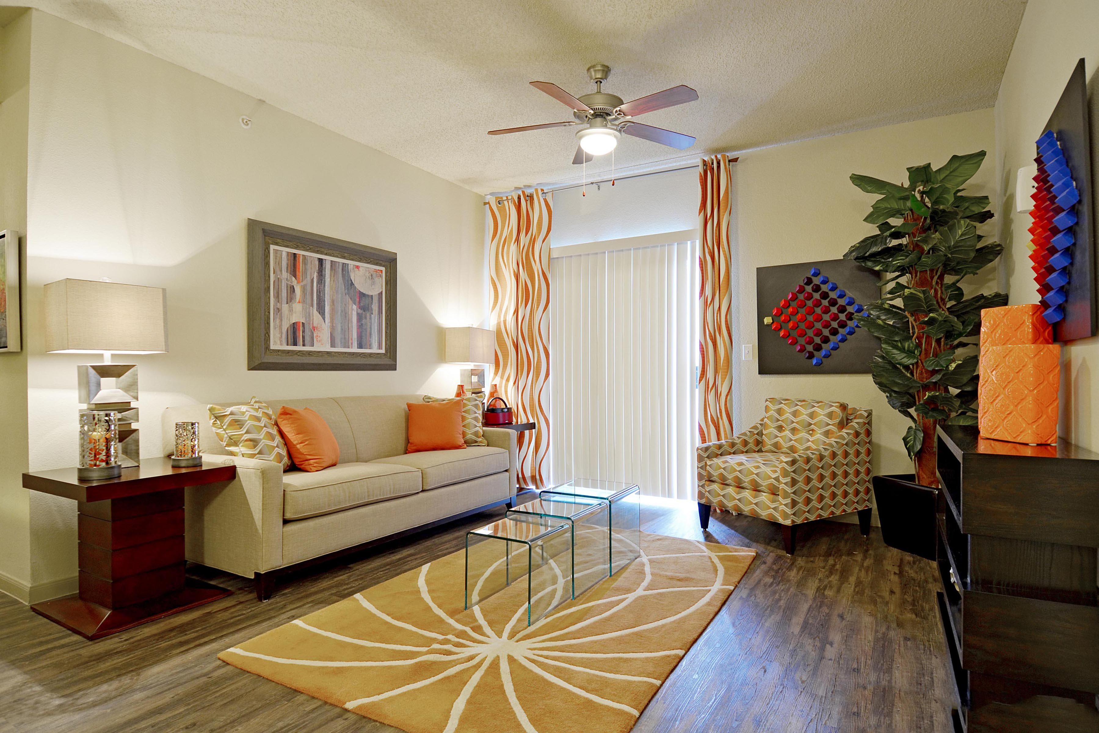 Gentil Living Room | The Preserve At Westover Hills San Antonio Apartments