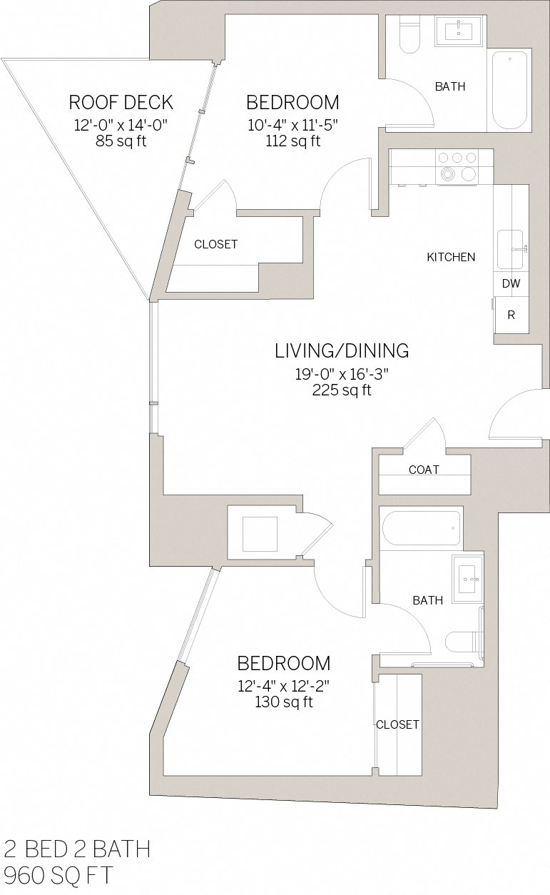 Two Bedroom - P Floor Plan 8