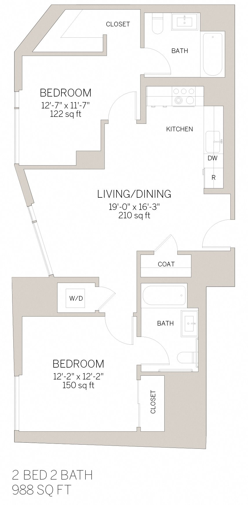 Two Bedroom - S Floor Plan 9