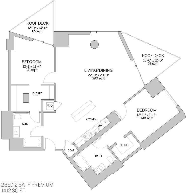 Two Bedroom Premium - L Floor Plan 10