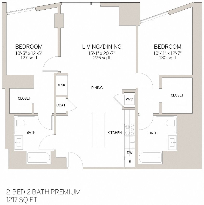 Two Bedroom Premium - N Floor Plan 11