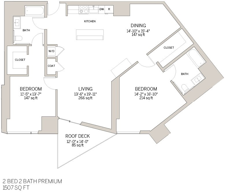 Two Bedroom Premium - Q Floor Plan 12