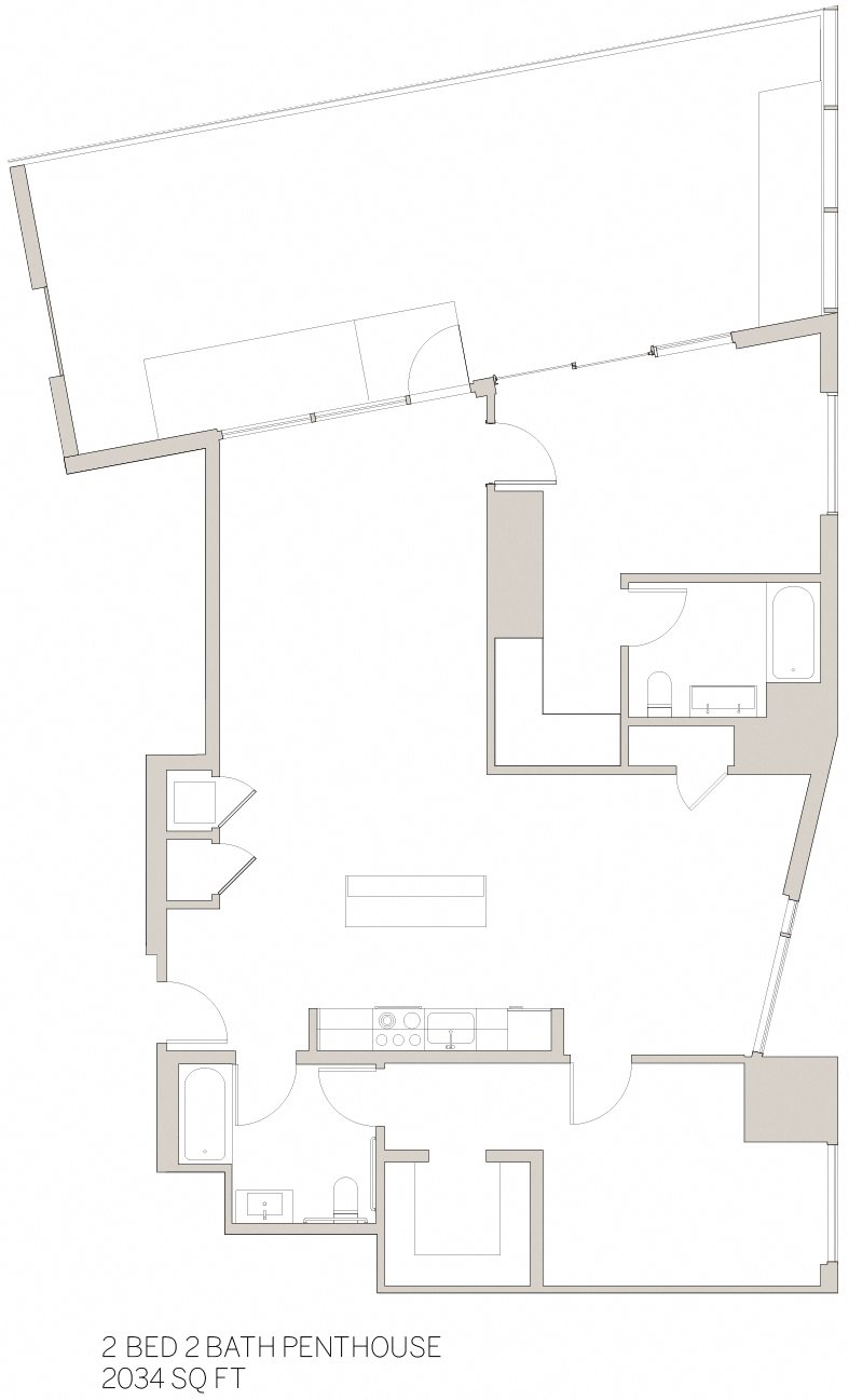 Two Bedroom Penthouse - T Floor Plan 13