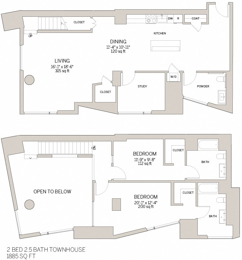 Two Bedroom Townhouse - Z Floor Plan 16