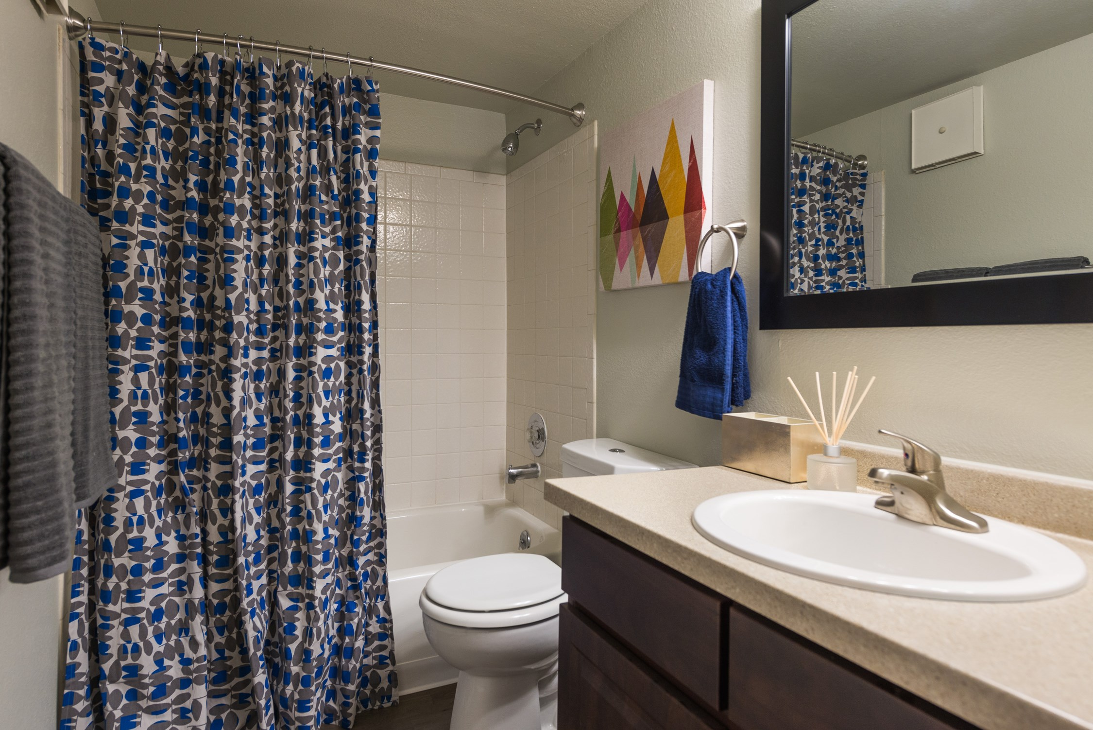 Bathroom at Conifer Creek Apartments in Aurora, IL