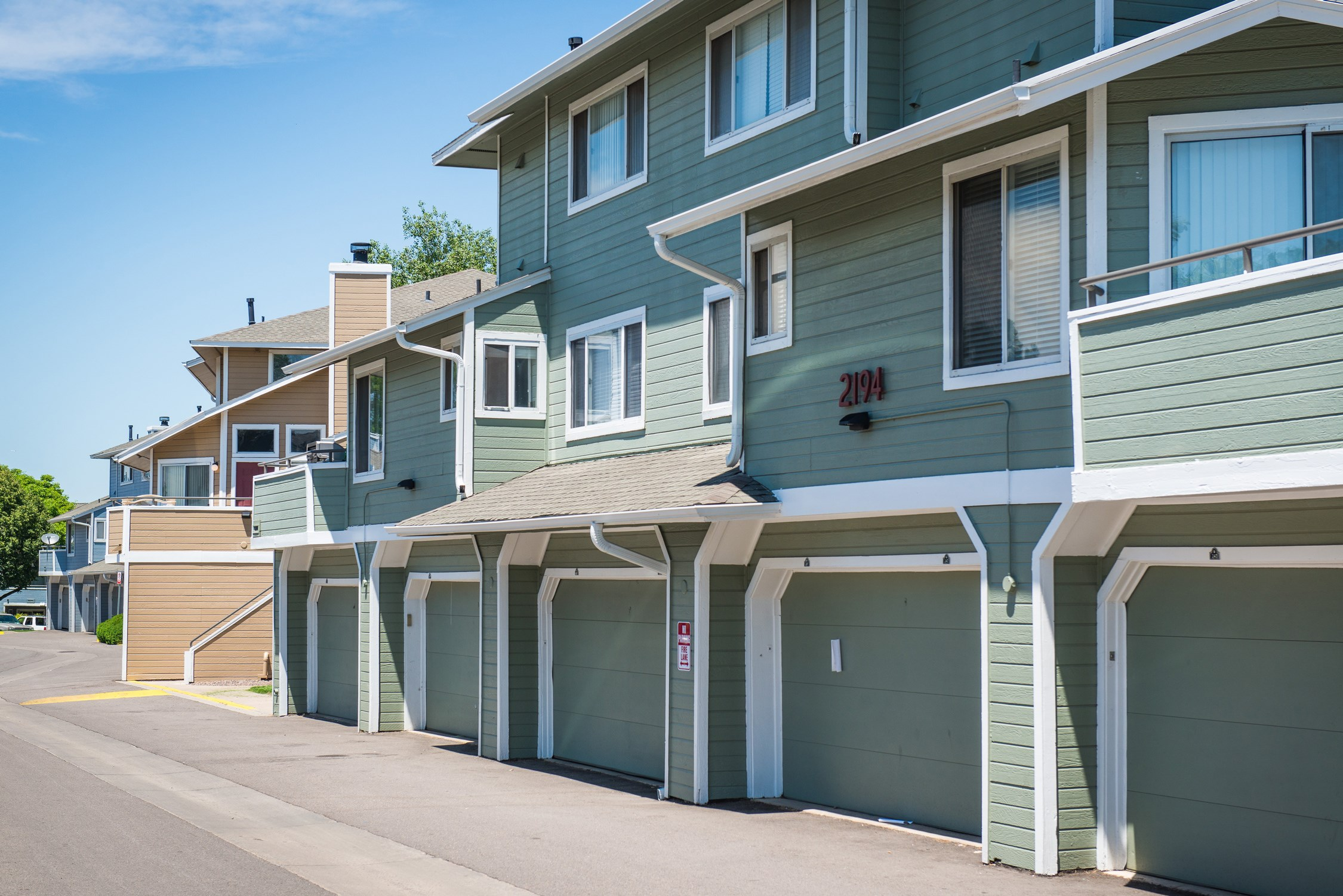 Attached Garages at Conifer Creek Apartments in Aurora, CO