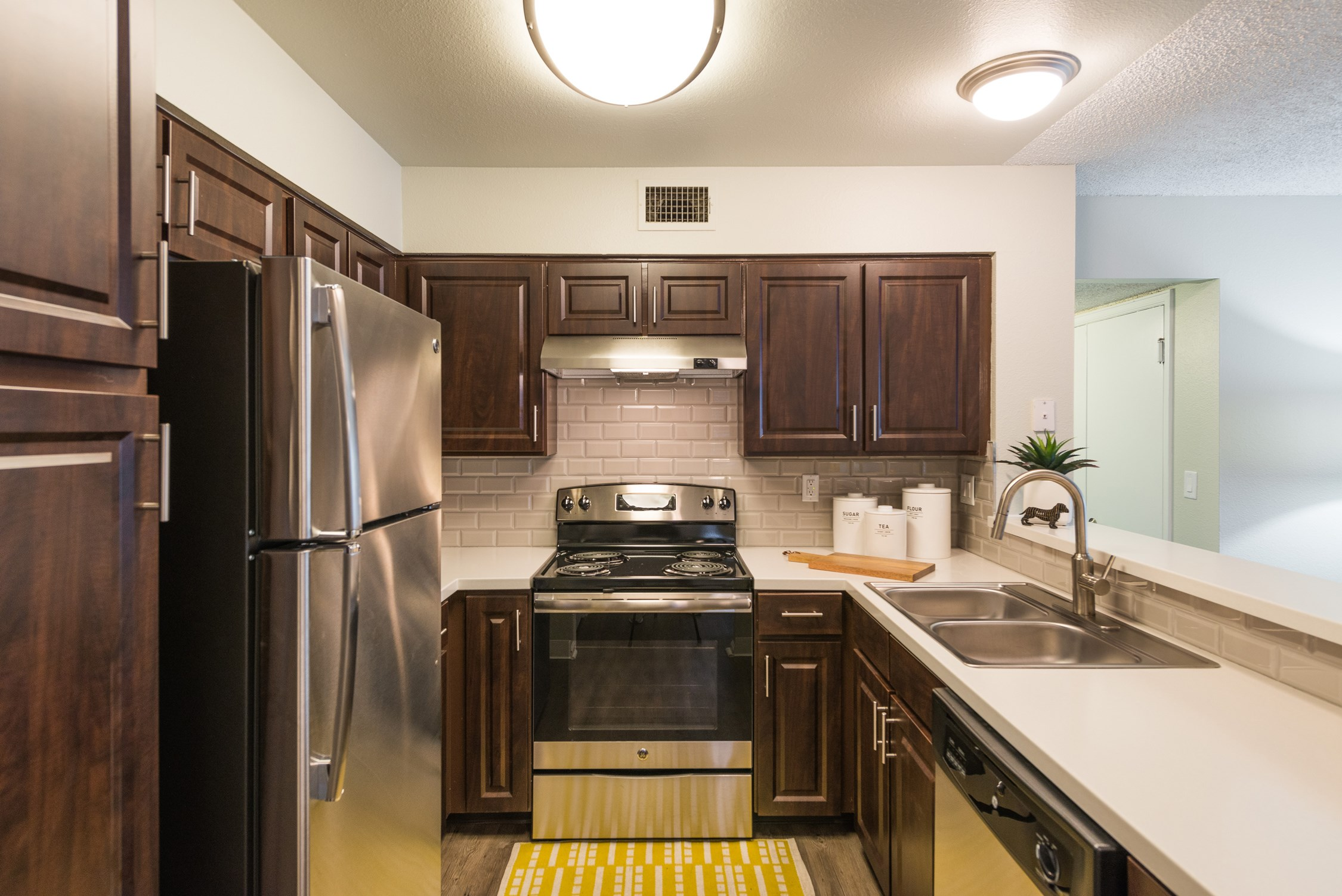 Kitchen at Conifer Creek Apartments in Aurora, IL