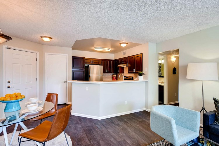 Open Living Spaces at Conifer Creek Apartments in Aurora, IL