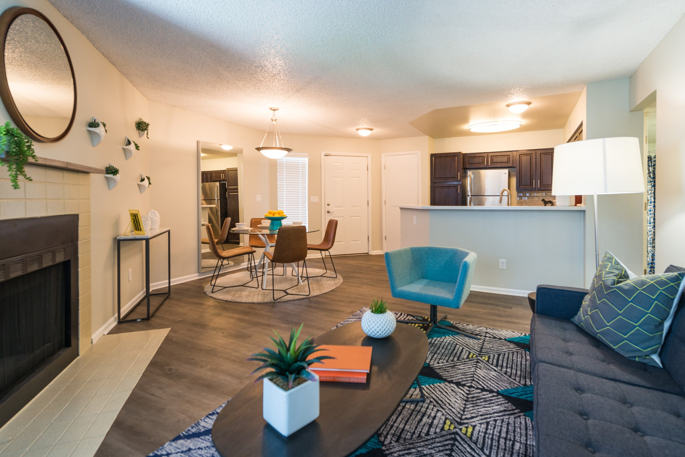 Spacious Living Room at Conifer Creek Apartments in Aurora, IL
