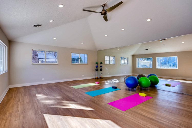 Yoga Room at Conifer Creek Apartments in Aurora, CO