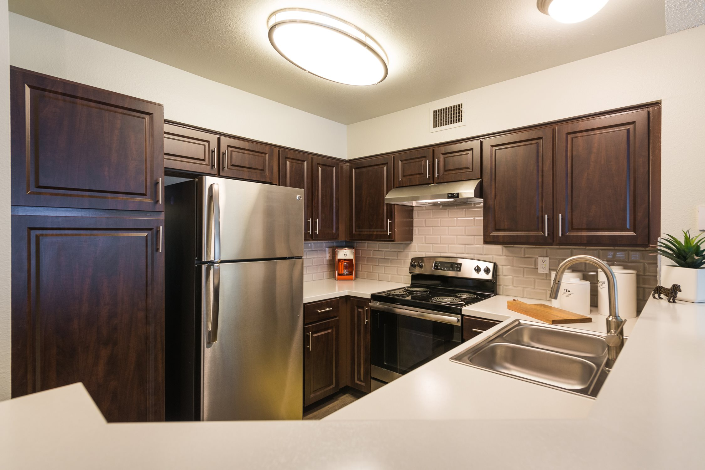 Kitchen at Conifer Creek Apartments in Aurora, IL