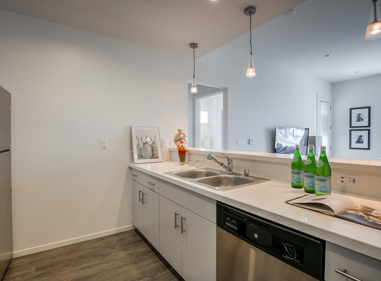 Full Kitchen with Modern Appliances, at Legendary Glendale, Apartments in 91203, CA