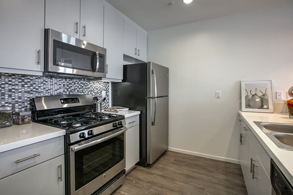 Stainless Steel Appliances and Modern Kitchen in Glendale Apartments, at Legendary Glendale, 91203