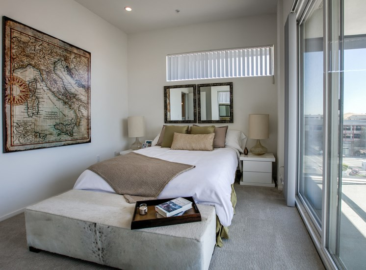 Bedroom with a View and Balcony, in apartments in Glendale, California