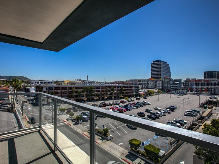 Attached Balconies and City Views, in Apartments at Legendary Glendale, California, 91203