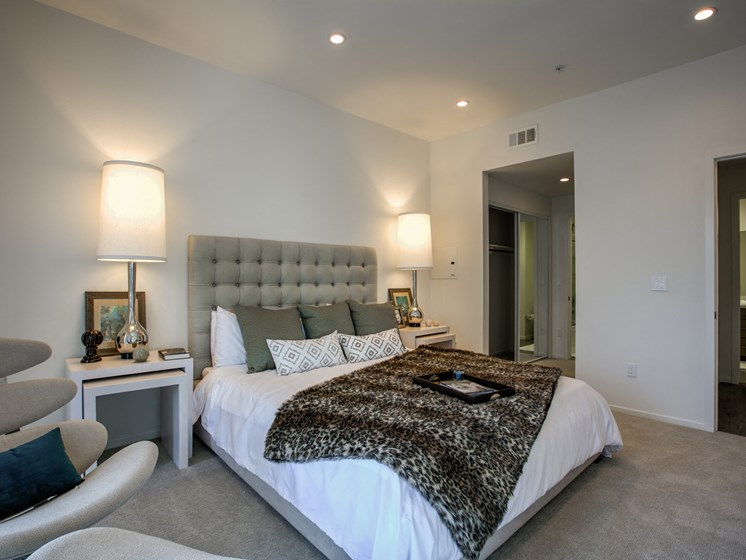 Lushly-Carpeted Rooms, at Legendary Glendale Apartment Homes, 300 N Central Ave, CA