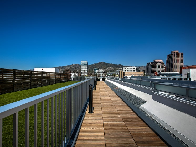 Rooftop Dog Park, at Luxury Apartments in Glendale, California, Legendary Glendale