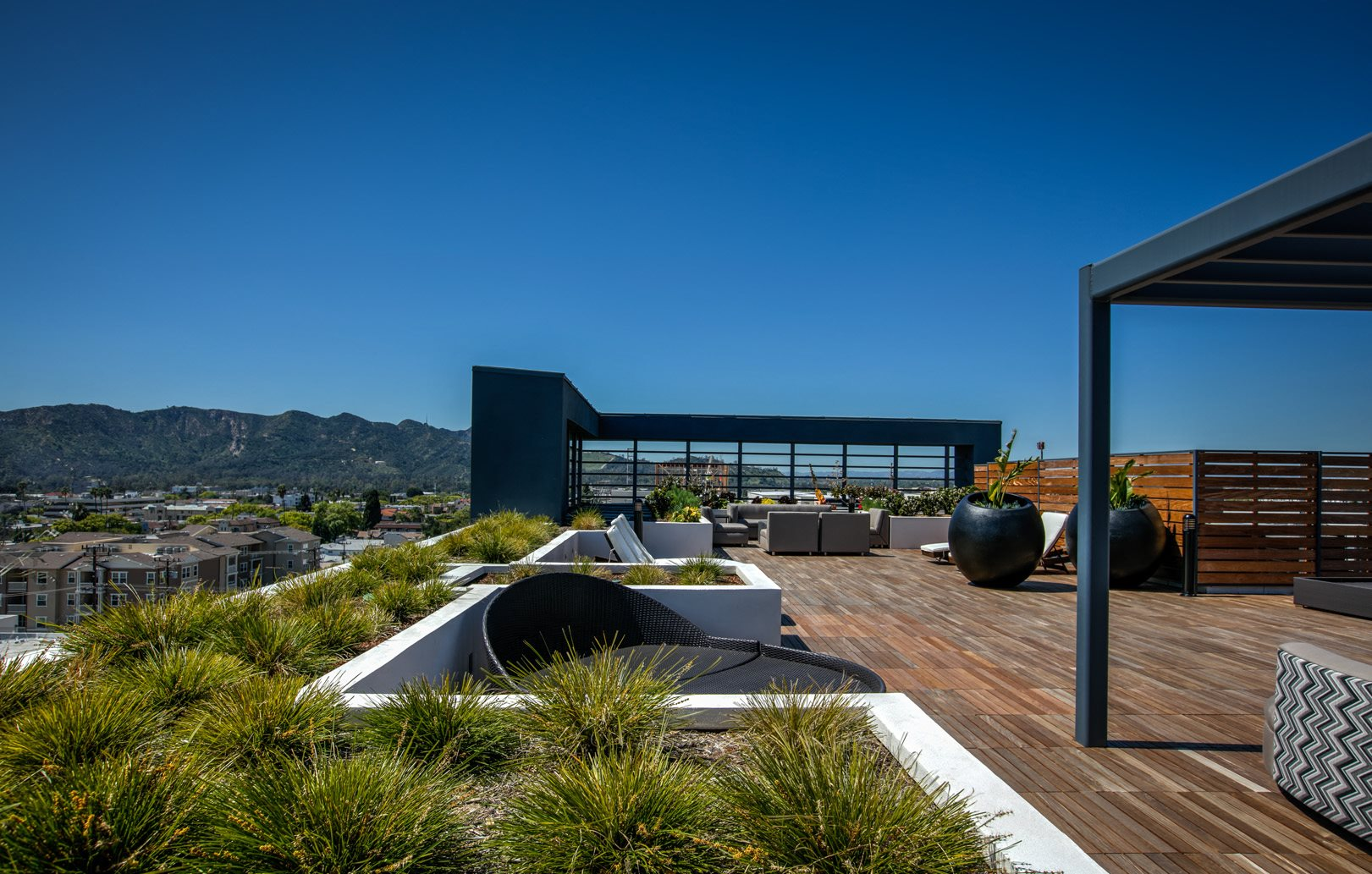 Rooftop Skydeck, at Apartments in Glendale, California