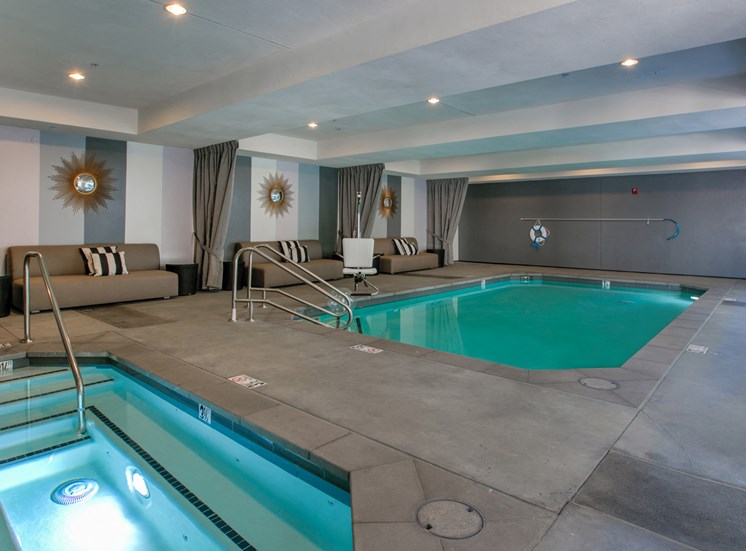Pool and Spa, at Legendary Glendale Apartments in Glendale, California