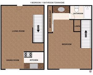 One Bedroom Townhome