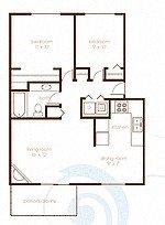 Treeline604_Vancouver_WA_2Bedroom_1Bathroom_FloorPlan