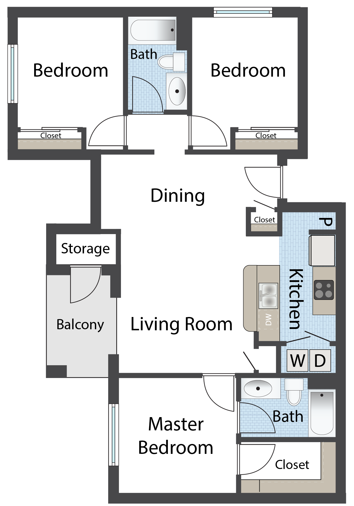Floor Plans Of Raintree Apartments I And Ii In Clovis Nm
