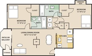 Eagle Pointe Apartments in Indianapolis - One Bedroom Apartment