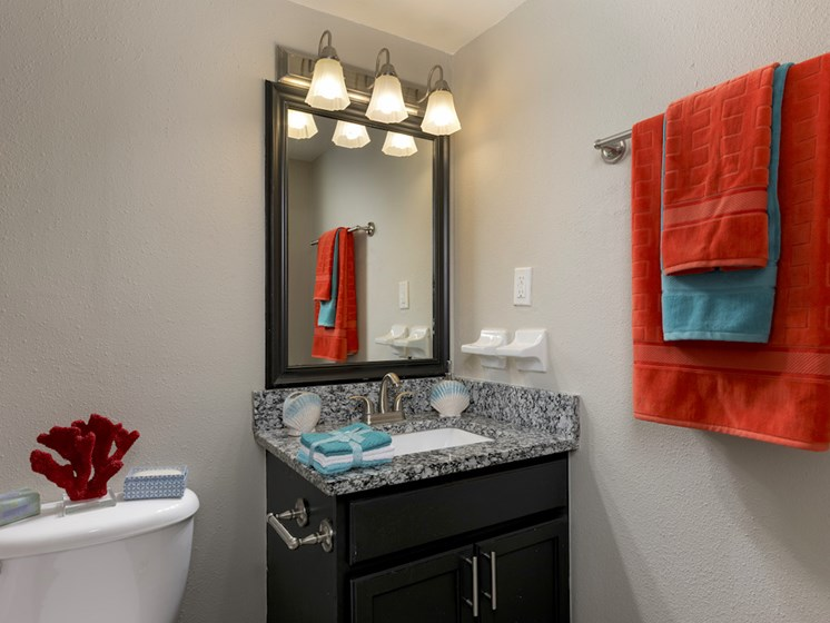 The Mark at SoDo South Downtown Orlando, FL 32806 Bathroom with granite countertops
