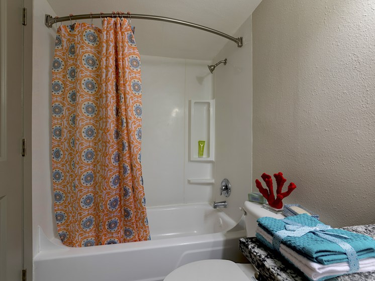 The Mark at SoDo South apartments in Downtown Orlando, FL 32806 Tub and shower