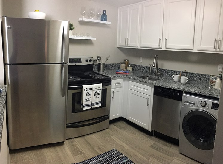 The Mark at SoDo apartments Orlando, FL 32806 Stainless Steel appliances in kitchen