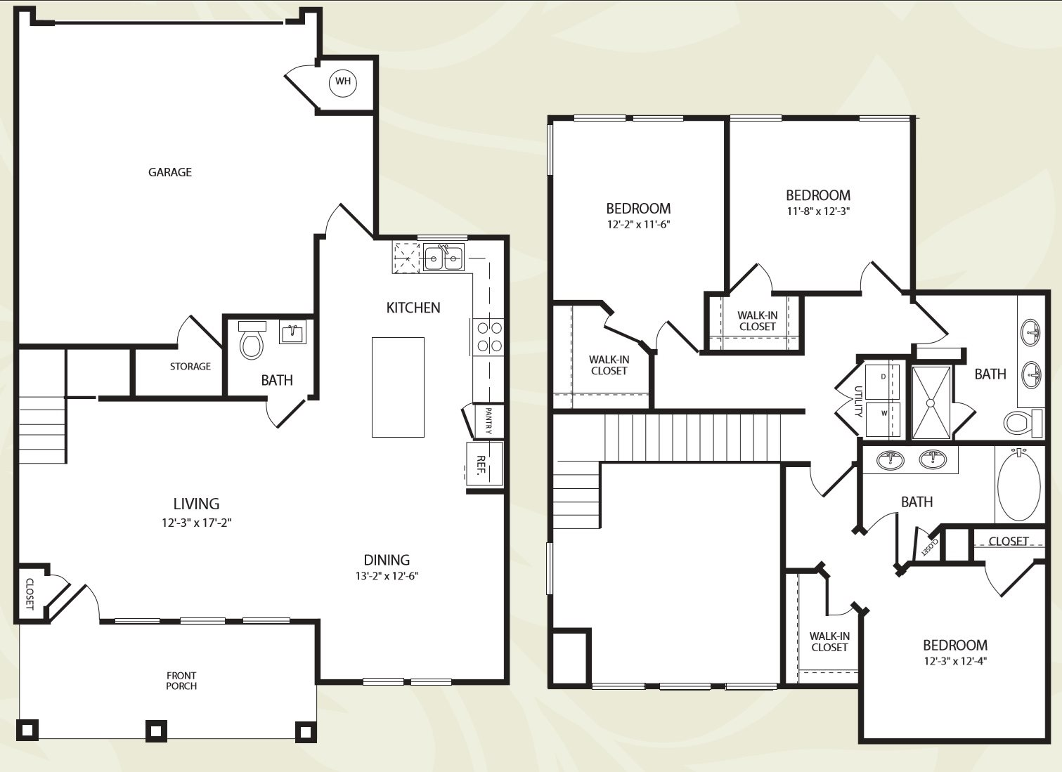 Centro Apartments_Aurora CO_Floor Plan_Three Bedroom Two ad a Half Bathroom_The Black Canyon