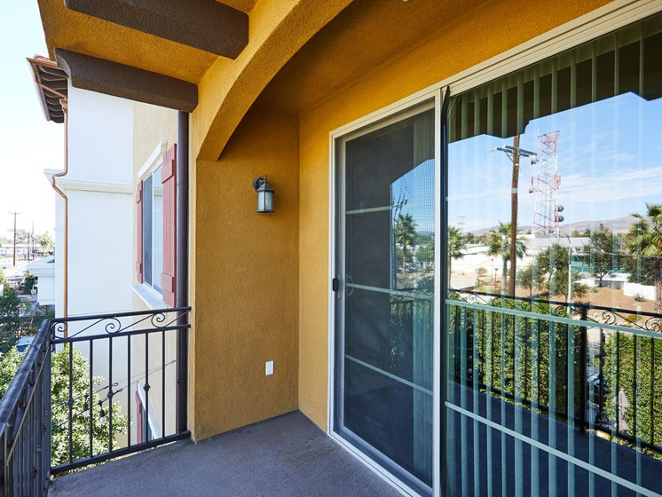 Oversized Private Patios & Balconies at The Verandas, Canoga Park, California