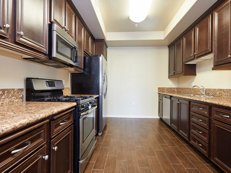 Kitchens With High-Quality Countertops at The Verandas, Canoga Park