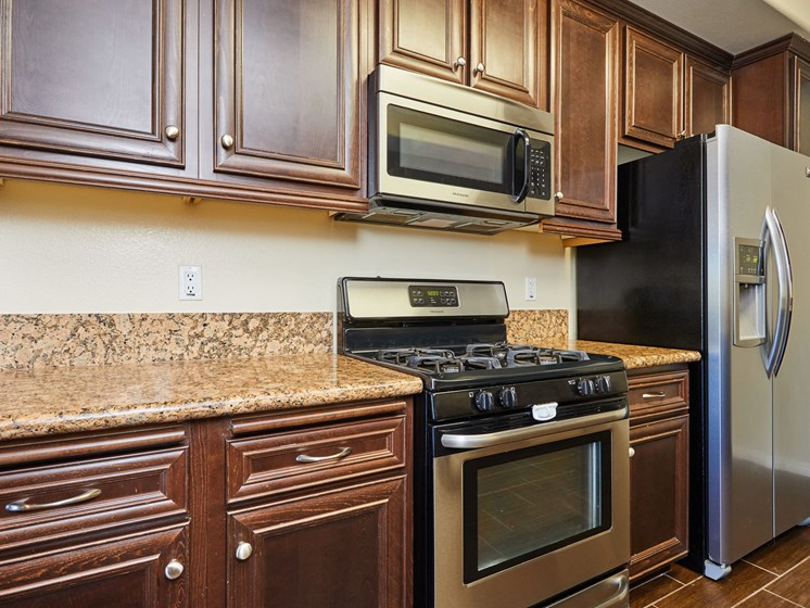 Kitchen Designed With Ample Storage Space at The Verandas, California, 91304