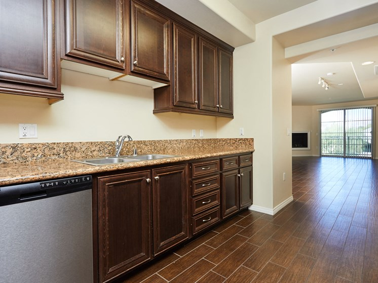 Hardwood Cabinets at The Verandas, Canoga Park, CA, 91304