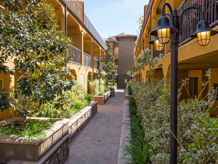 Lush Courtyards at The Verandas, Canoga Park