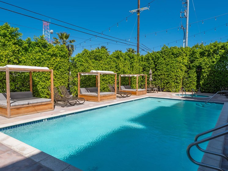 Swimming Pool With Relaxing Sundecks at The Verandas, California, 91304