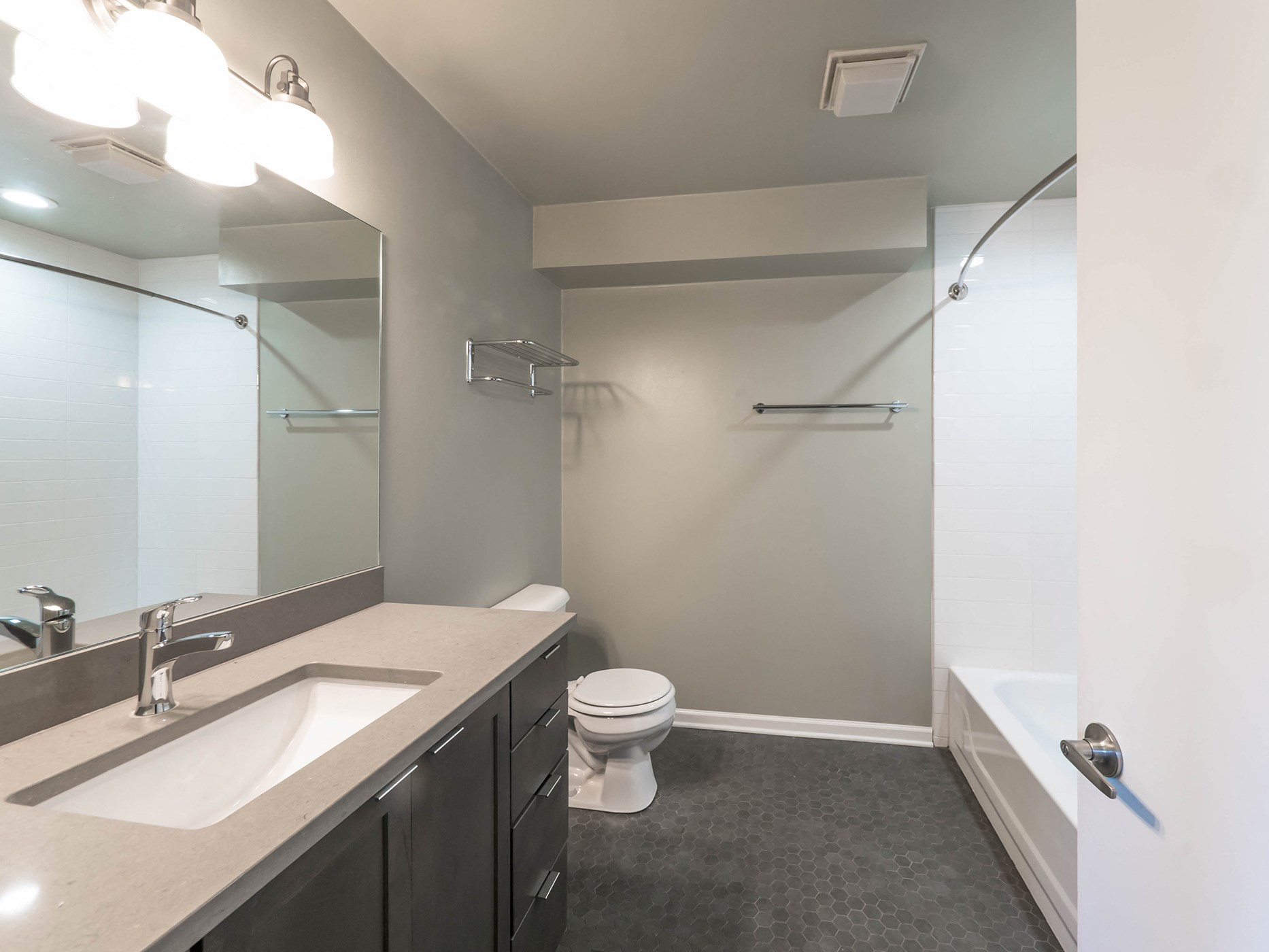 Renovated Bathrooms at 1012 W. Randolph St. Chicago, IL 60607