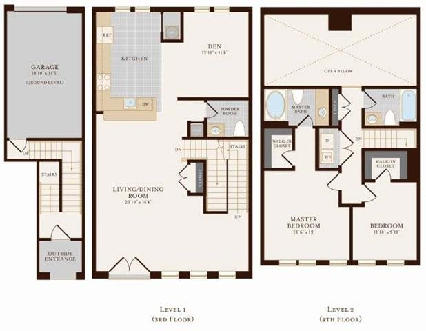 Two Bedroom Two Bathroom Townhome with Den 2136 sq ft Floor Plan 19