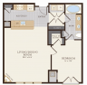 One Bedroom One Bathroom 846 sq ft