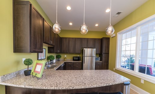 Chef Inspired Kitchen Islands with Chic Pendant Lighting at Gateway at Rock Hill, Rock Hill, SC, 29730