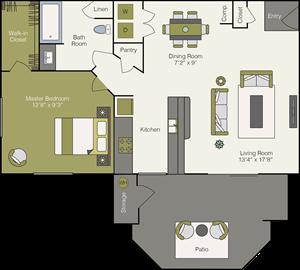 Large One Bedroom, One Bathroom