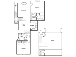 TWO BEDROOM- TWO BATH (C3)