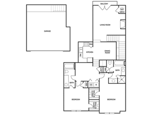 TWO BEDROOM- TWO BATH (C6)