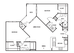TWO BEDROOM- TWO BATH (C1)